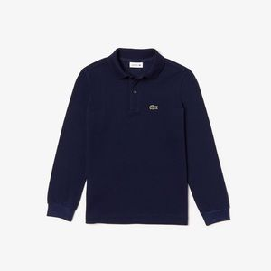 Navy Blue Lacoste long sleeve polo for J.Crew